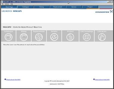 Izgled osnovne stranice programa