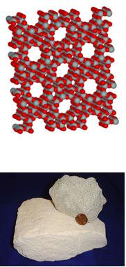 struktura minerala ZEOLIT