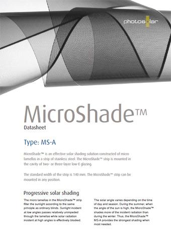 Microshade solar